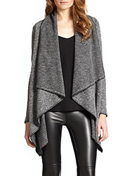 Bailey 44 Draped Knit Blanket Cardigan Grey