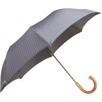 Barneys New York Pinstripe Folding Umbrella