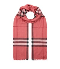 Burberry Shoes And Accessories Gauze Giant Check Scarf Female Pink
