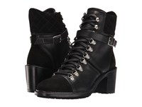 The Kooples Steffy Boots In A Smooth Leather And Calfskin Suede Mix Black Women's Lace Up Boots