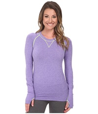 Zensah Run Seamless Long Sleeve Shirt Heather Purple Women's Workout