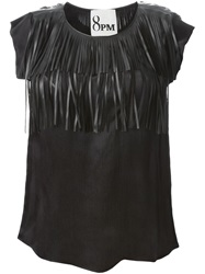 8Pm Fringed Top Black