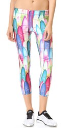 Zara Terez Surf's Up Performance Capri Leggings Multi