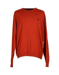 Timberland Knitwear Jumpers Men Rust