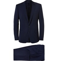 Dolce And Gabbana Navy Martini Slim Fit Virgin Wool Blend Suit Blue
