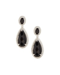 Judith Ripka Legacy Onyx And Sapphire Drop Earrings Black