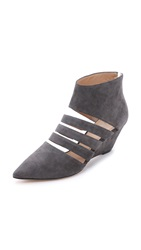 Belle By Sigerson Morrison Wilma Suede Wedges Grey