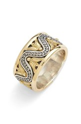 Women's Konstantino 'Hebe' Wave Etched Band Ring