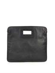 Tomas Maier Leather Foldover Clutch