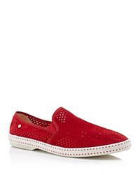 Rivieras Sultan 30 Perforated Slip On Sneakers Red