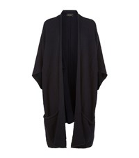 Eskandar Shawl Neck Long Sleeveless Cardigan Female Black