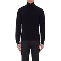 Earnest Sewn Men's Dafoe Turtleneck Sweater Black Blue Black Blue