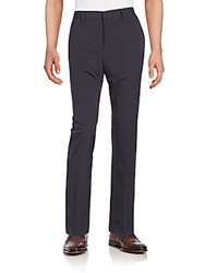 Saks Fifth Avenue Black Slim Straight Leg Trousers Blue