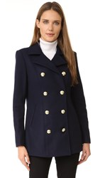 Frame Atelier Le Double Breasted Peacoat Navy