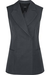 Joseph Barrow Satin Vest Gray
