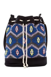 Love Stitch Canvas Backpack Blue