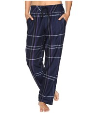 Dkny Bedford Lounge Pants Peacoat Plaid Women's Pajama Black