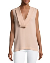 Theory Salvatill Sleeveless Classic Georgette Top Pale Rose