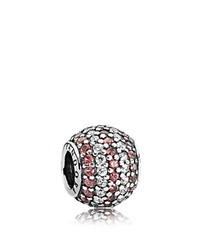 Pandora Design Pandora Charm Sterling Silver Cubic Zirconia And Crystal Red Nautical Pave Lights Moments Collection Silver Red Clear