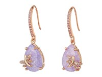 Betsey Johnson Lavender Dragonfly Cz Drop Earrings Lavender Earring Purple