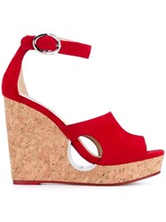 Jimmy Choo 'Neyo 120' Sandals Red