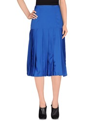 Cutie Skirts 3 4 Length Skirts Women Blue