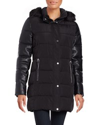 Calvin Klein Faux Fur Trimmed Hooded Parka Black