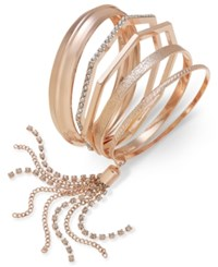 Thalia Sodi Geometric Bangle Bracelet Set Only At Macy's Rose Gold
