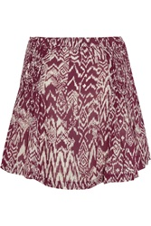Iro Adele Printed Georgette Mini Skirt