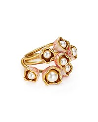Tory Burch Budding Stack Ring Ivory