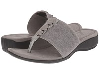 Anne Klein Katya Pewter Fabric Women's Clog Shoes