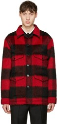 Valentino Red Mohair Check Jacket