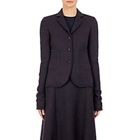 Nina Ricci Women's Tweed Three Button Sportcoat Black Blue Black Blue