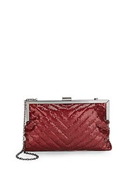Saks Fifth Avenue Chain Mesh Clutch Wine