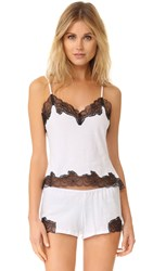 Only Hearts Club Luxe Lace Cami White Black