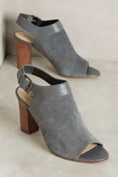 Anthropologie Caleres Fae Peep Toe Shooties Grey