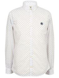 Pretty Green Polka Dot Shirt White