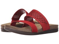 Rockport Total Motion Romilly Slide Red Pepper Cas Suede Women's Sandals