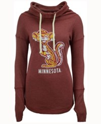 Retro Brand Women's Minnesota Golden Gophers Funnel Neck Sweatshirt Maroon