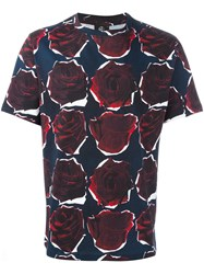Paul Smith Ps By Rose Print T Shirt Blue