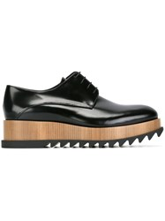 Jil Sander Platform Lace Up Shoes Black