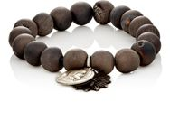 Miracle Icons Druzy Agate Bead And Charm Bracelet Silver