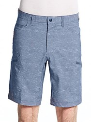 Hawke And Co Seven Pocket Printed Tech Shorts Cross Hitch