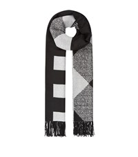 Burberry Shoes And Accessories Reversible Check Cashmere Scarf Female Black