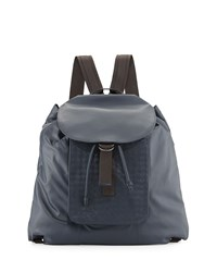 Woven Leather Backpack Navy Blue Bottega Veneta