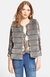 Joie 'Andrina' Faux Fur Vest Sterling
