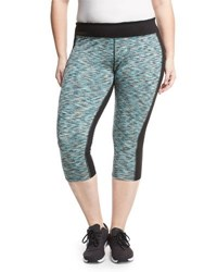 Soybu Plus Toni Paneled Capri Leggings Blue