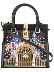 Dolce And Gabbana Castle Patch Tote Black