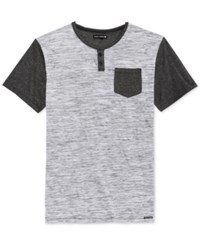 Ocean Current Men's Short Sleeve Raglan Style T Shirt Black Grey Multi