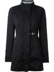 Fay Buckle Detail Zipped Jacket Black